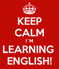 Keep Calm, I'm learning English!